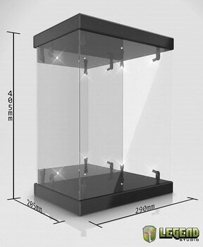 Master Light House Acrylic Display Case with Lighting for 1/6 Actionfigurer (black)