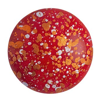 Cabochon par Puca® - Opaque Coral Red Tweedy 25 mm, 1 styck