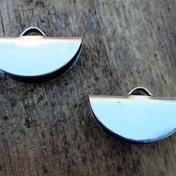 Ändfäste platta band Silverfärgad -  Rund modell, 20 mm, 2- pack