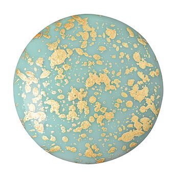 Cabochon par Puca® - Opaque Aqua Splash 25 mm, 1 styck