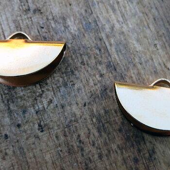 Ändfäste platta band guldfärgad -  Rund modell, 20 mm, 2- pack