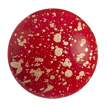 Cabochon par Puca® - Opaque Coral Red Splash 25 mm, 1 styck