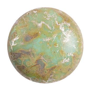 Cabochon par Puca® - Opaque Aqua New Picasso 18 mm, 1 styck