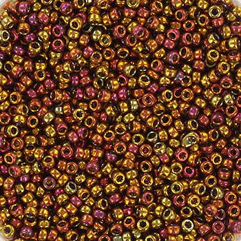 Miyuki seed beads - Transparent Iros Tea Gold 15/0, 10 gram