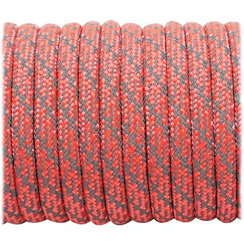 Super reflective paracord 50/50, Sofit Orange Matrix #345 - 10 Meter