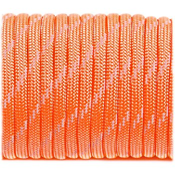 Paracord reflective, Sofit orange #R345 - 10 Meter
