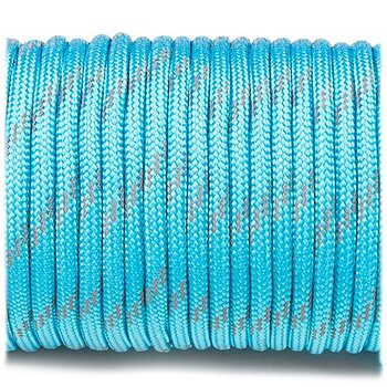 Paracord reflective, ice mint #R049 - 10 Meter