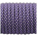 Super reflective paracord 50/50 , Purple Snake #026 - 10 Meter