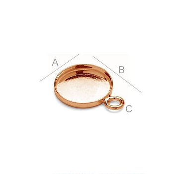 Ram 925 Silver 18K Rose Gold - 10.5mm