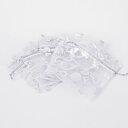 Organsapåse - Vit med silver hjärtan, 7x9 cm, 10- pack