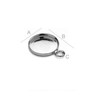 Ram 925 Silver Svart Rhodium - 10.5mm