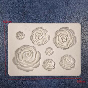 Silkonform - Rosor 7 storlekar 1 form