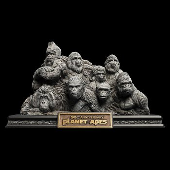 Planet of the Apes Staty Apes Through the Ages 29 cm
