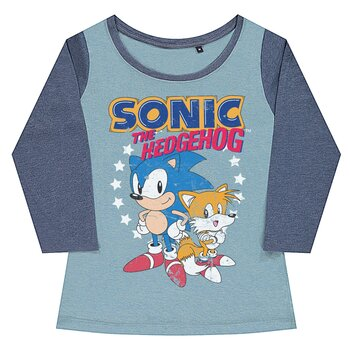 Sonic The Hedgehog - Sonic & Tails Girly Baseball Tee