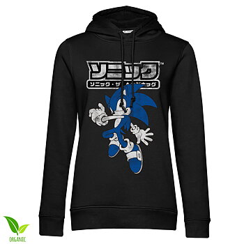 Sonic The Hedgehog Japanese Logo Girls Hoodie