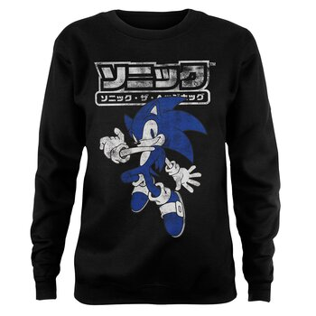 Sonic The Hedgehog Japanese Logo Girly Sweatshirt