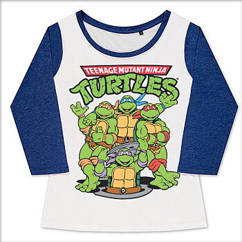 Teenage Mutant Ninja Turtles Group Girly Baseball Tee