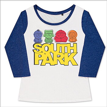 South Park Sketched Girly Baseball Tee