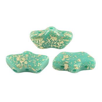 Delos® par Puca® - Opaque Green Turquoise Splash 10 gram