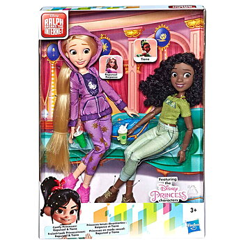 Disney Raph Breaks the Internet Rapunzel + Tiana set 2 dolls
