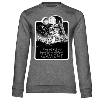 Star Wars Deathstar Poster Girly Sweatshirt