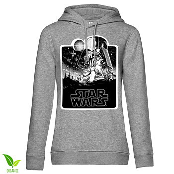 Star Wars Deathstar Poster Girls Hoodie