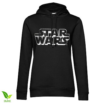 Star Wars Distressed Logo Girls Hoodie