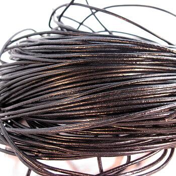 Läderband ca 2 mm - svart, 100 m