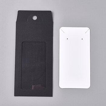 Örhänges kort - Vita med present- ficka 10- pack