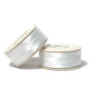 Nymo 00 - White, 1 rulle