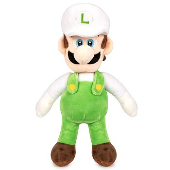 Super Mario Bros White Luigi soft plush toy 35cm