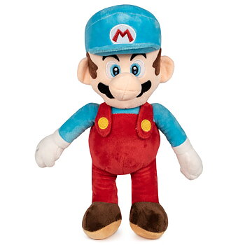 Super Mario Bros Blue Mario soft plush toy 35cm