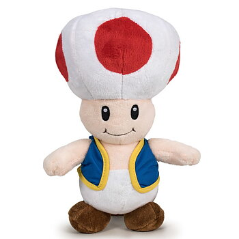 Super Mario Bros Toad soft plush toy 26cm