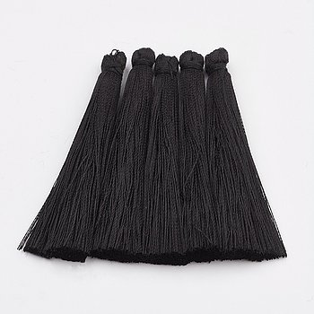 Hänge tassel polyester - Svart 65mm 1 styck