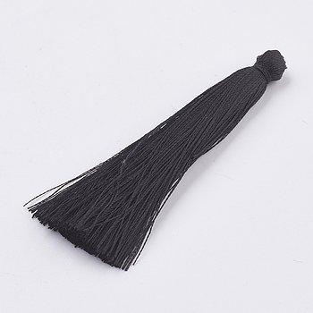 Hänge tassel polyester - Svart 65-74mm 1 styck