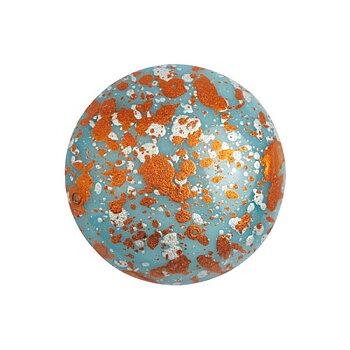 Cabochon par Puca® - Opaque Aqua Tweedy 18 mm, 1 styck