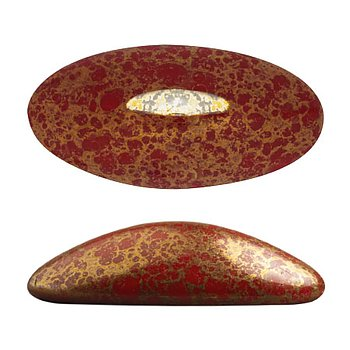 Athos® par Puca® - Opaque Coral Red Bronze 20x10mm, 1 styck