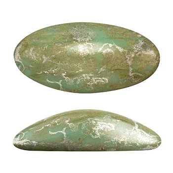 Athos® par Puca® - Opaque Light Green Turquoise New Picasso 20x10mm, 1 styck