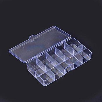 Pärlförvaring  - Ask med 10 lite större fack, 2-pack