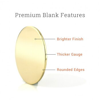ImpressArt Premium taggar - Cirkel Aluminium 19mm (144st)