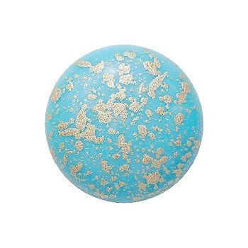 Cabochon par Puca® - Opaque Aqua Splash 18 mm, 1 styck