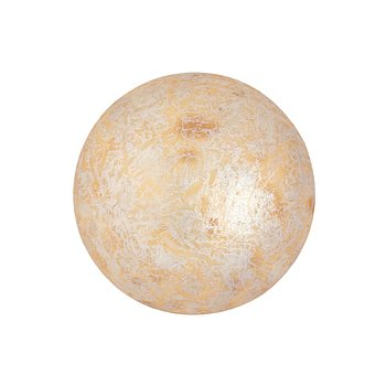 Cabochon par Puca® - Opaque Ivory Spotted 18 mm, 1 styck