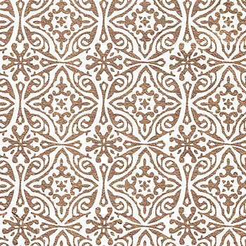 Indian gold print, white