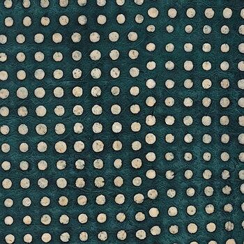 Batik with dots, blue