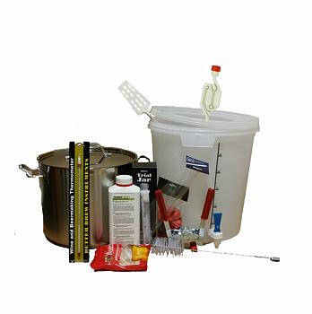 Ölbryggningskit med Kittel (m tappkran och termometer) 32 L
