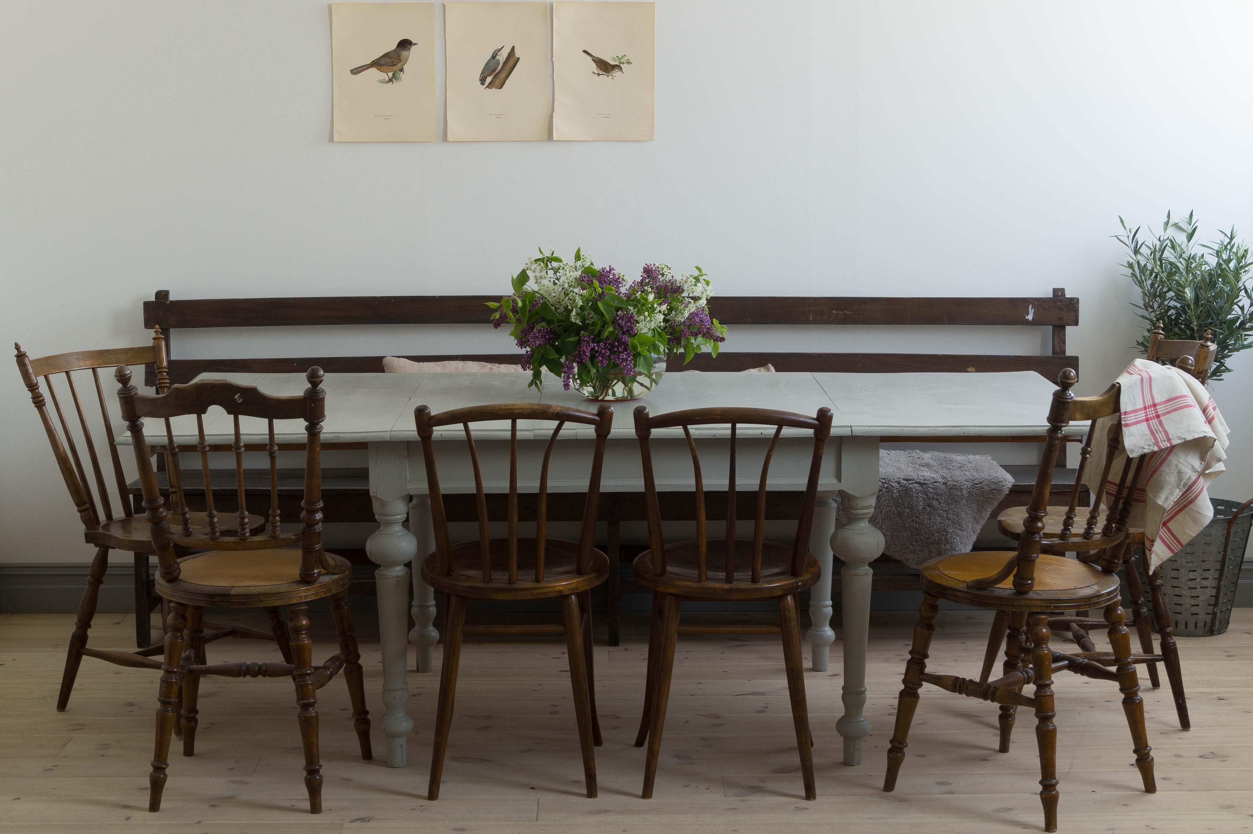 Butik Lanthandeln Stort vackert gammalt matbord med