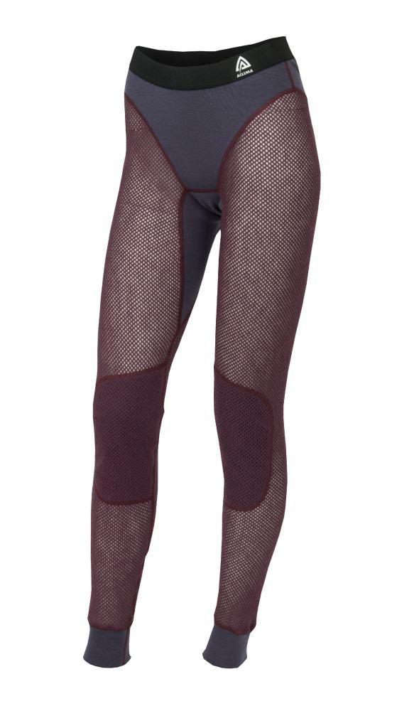 Aclima Woolnet Womens Long Pants - Blackberry Wine/Periscope - UTFÖRSÄLJNING