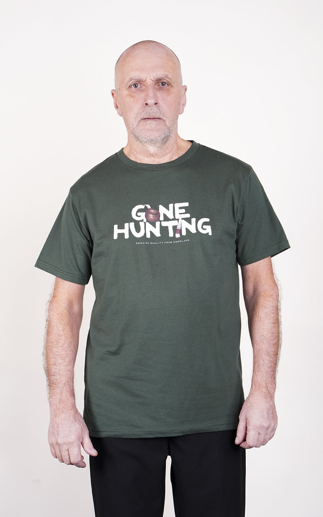 SQRTN Gone Hunting T-shirt Dark Olive UTFÖRSÄLJNING