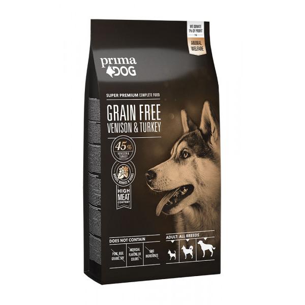 Prima Dog Adult All Breeds Sensitive Hjort & Kalkon Spannmålsfritt