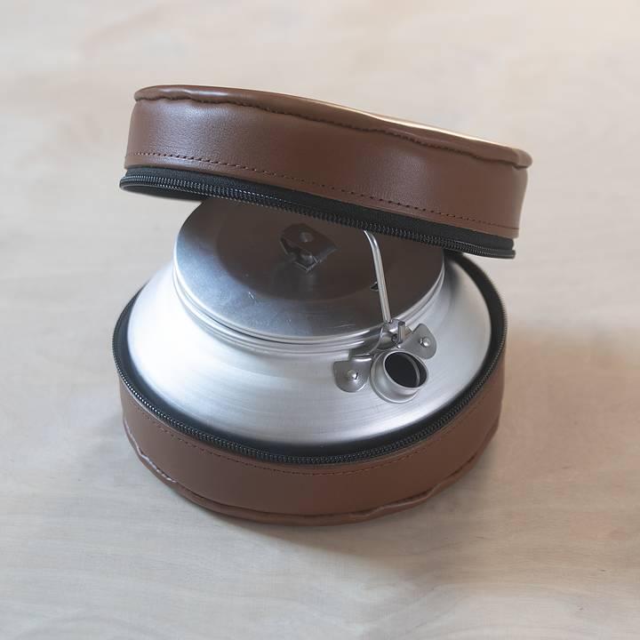 Lemmel Kaffepanna i Skinnfodral